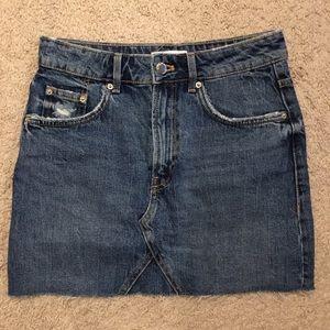ZARA TRF denim skirt size XS